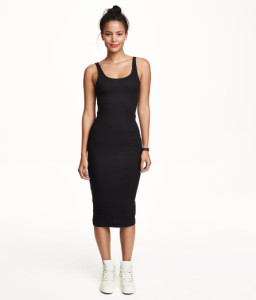 H&M stretcy midi-dress